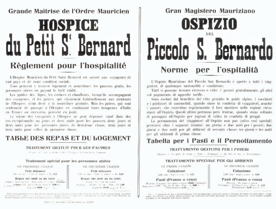 Ancien règlement pour l'hospitalité de l'hospice