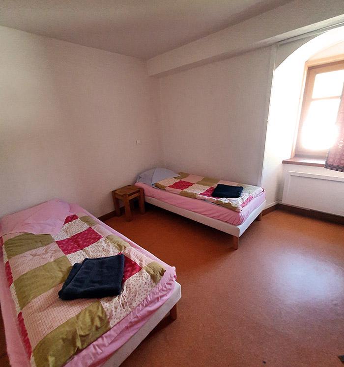 La chambre 1 de l'auberge de l'hospice du petit saint bernard