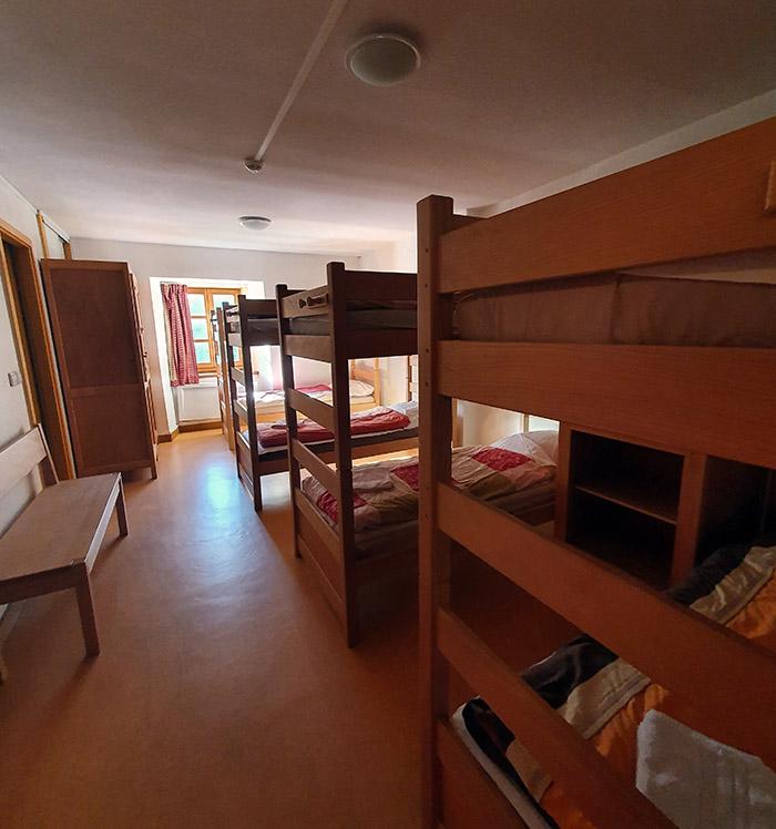 La chambre 5 de l'auberge de l'hospice du petit saint bernard