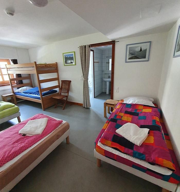 La chambre 6 de l'hospice du col du petit saint bernard