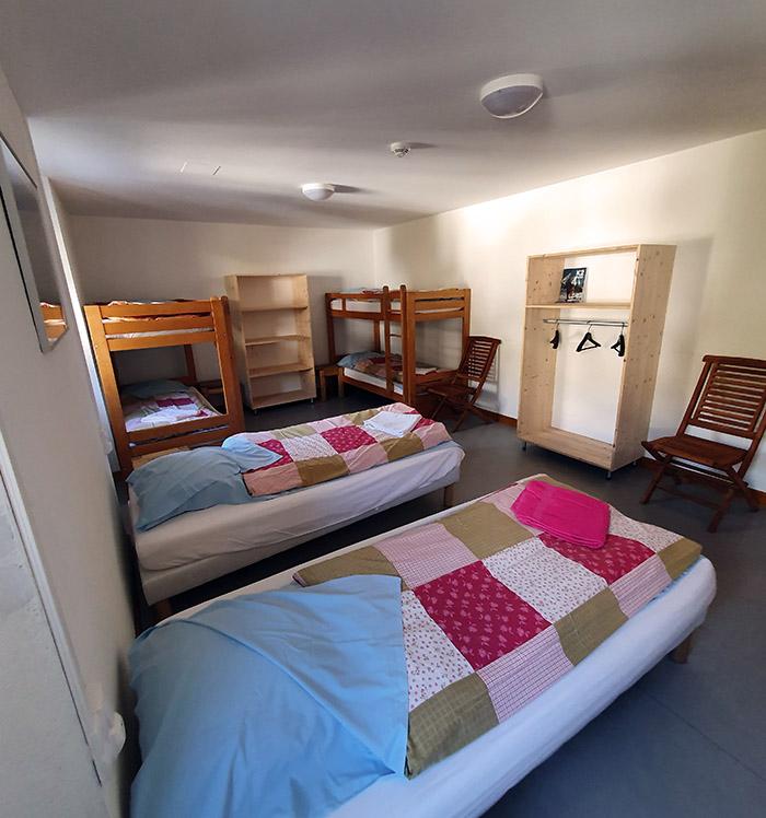 La chambre 7 de l'auberge de l'hospice du petit saint bernard