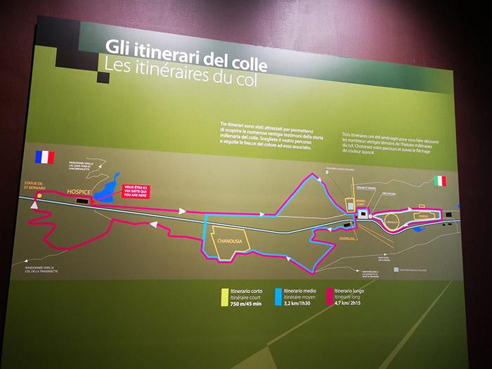 Les itinéraires du col du petit saint bernard exposition permanente
