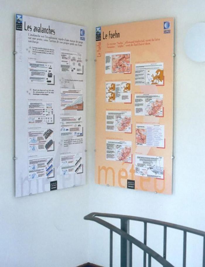panneaux espace muséographie tour météo de l'hospice du petit saint bernard page expositions